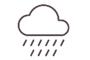 Cloudy with rain