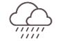 Cobert amb pluja
