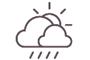 Ceo nublado con choiva breve