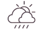 Ennuvolat amb pluja escassa