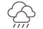 Mostly cloudy with brief rain